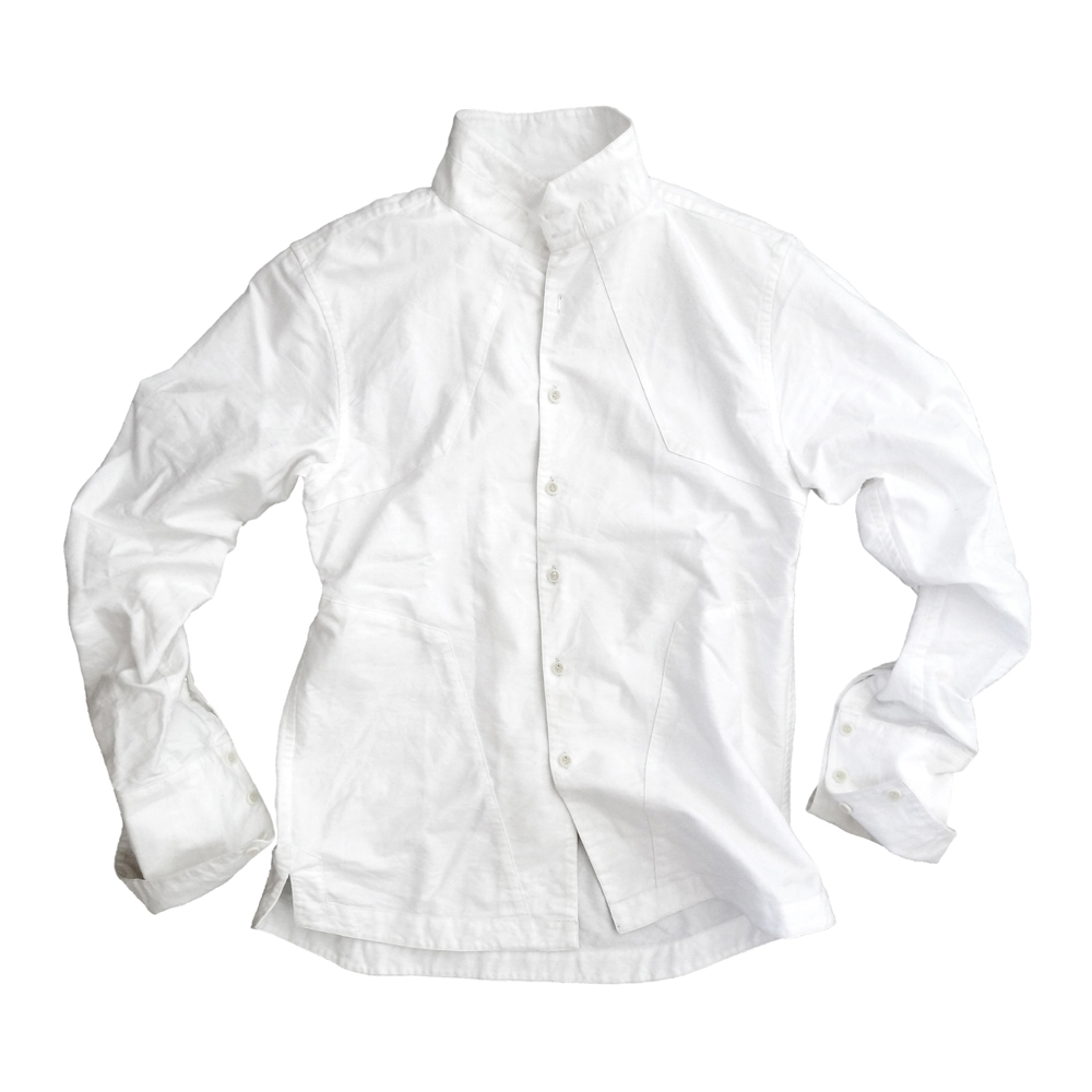 "<div style=""width:60px;display:inline-block;"">model</div> Jinbaori Shirt #12<br><div style=""width:60px;display:inline-block;"">color</div> white<br><div style=""width:60px;display:inline-block;"">material</div> cotton<br><div style=""width:60px;display:inline-block;"">price</div> 19,800JPY(+tax)"