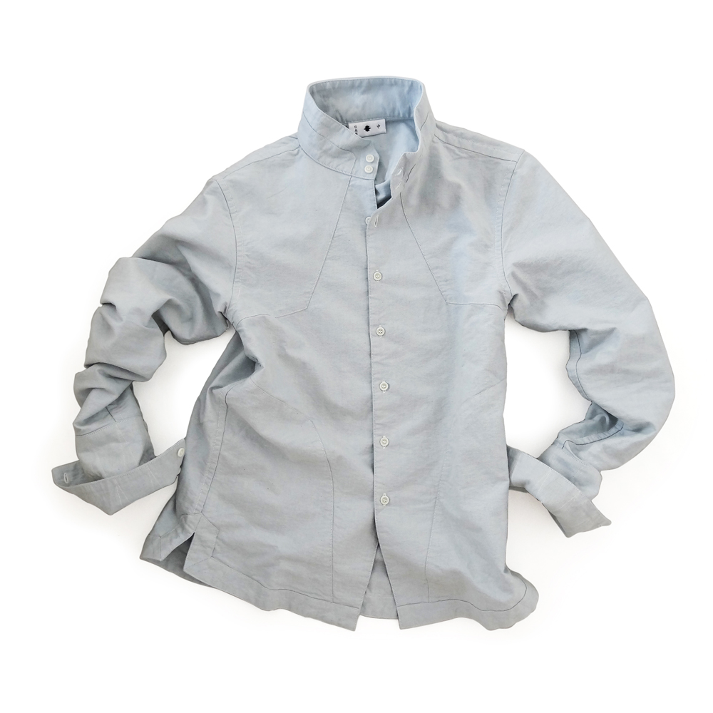 "<div style=""width:60px;display:inline-block;"">model</div> Jinbaori Shirt #12<br><div style=""width:60px;display:inline-block;"">color</div> light indigo<br><div style=""width:60px;display:inline-block;"">material</div> cotton<br><div style=""width:60px;display:inline-block;"">price</div> 19,800JPY(+tax)"