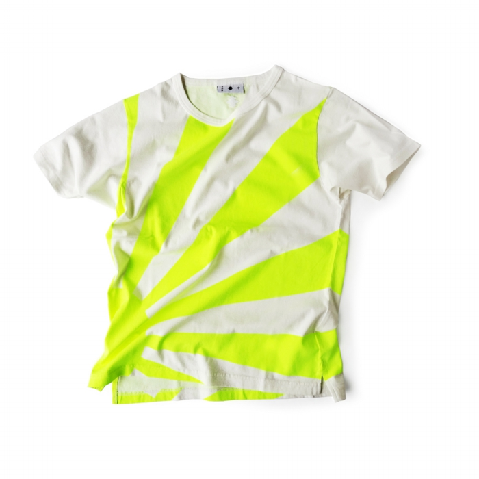 "<div style=""width:60px;display:inline-block;"">model</div> T-shirt #84 ""Risung Sun""<br><div style=""width:60px;display:inline-block;"">color</div> yellow on white<br><div style=""width:60px;display:inline-block;"">material</div> cotton<br><div style=""width:60px;display:inline-block;"">price</div> 9,800JPY(+tax)"
