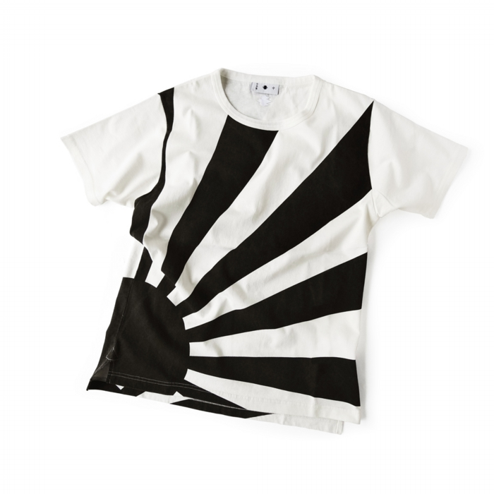 "<div style=""width:60px;display:inline-block;"">model</div> T-shirt #84 ""Risung Sun""<br><div style=""width:60px;display:inline-block;"">color</div> black on white<br><div style=""width:60px;display:inline-block;"">material</div> cotton<br><div style=""width:60px;display:inline-block;"">price</div> 9,800JPY(+tax)"
