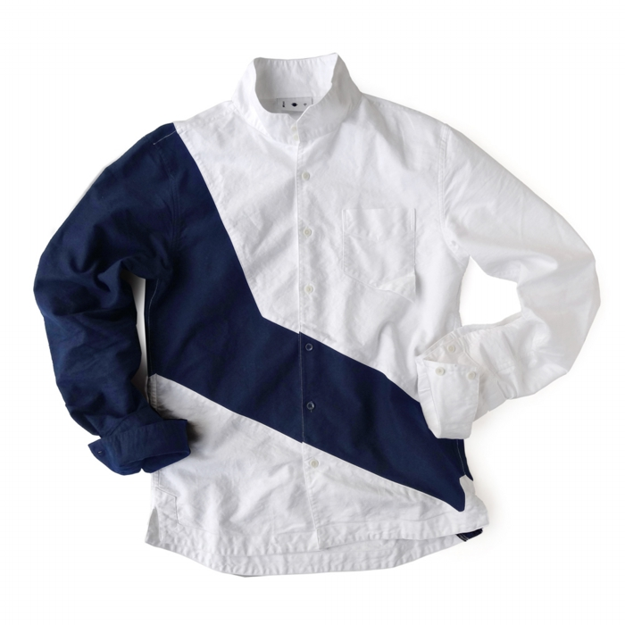 "<div style=""width:60px;display:inline-block;"">model</div> Jinbaori Shirt #17<br><div style=""width:60px;display:inline-block;"">color</div> navy on white<br><div style=""width:60px;display:inline-block;"">material</div> cotton<br><div style=""width:60px;display:inline-block;"">price</div> 21,000JPY(+tax)"