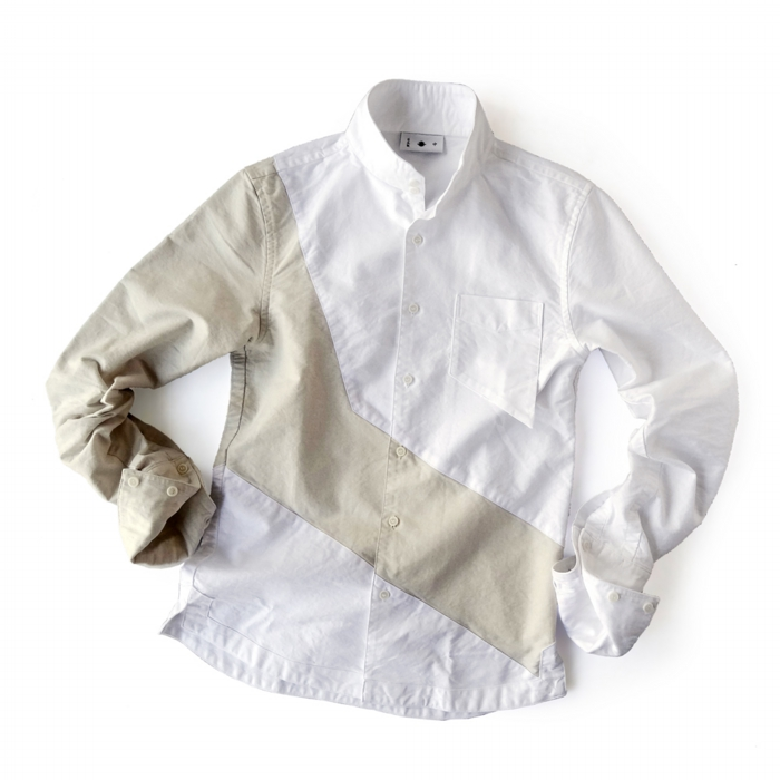 "<div style=""width:60px;display:inline-block;"">model</div> Jinbaori Shirt #17<br><div style=""width:60px;display:inline-block;"">color</div> beige on white<br><div style=""width:60px;display:inline-block;"">material</div> cotton<br><div style=""width:60px;display:inline-block;"">price</div> 21,000JPY(+tax)"