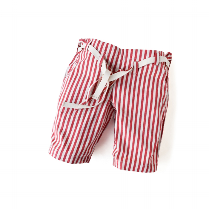 "<div style=""width:60px;display:inline-block;"">model</div> Karate Pants #8 ""Stripe""<br><div style=""width:60px;display:inline-block;"">color</div> red on white<br><div style=""width:60px;display:inline-block;"">material</div> cotton<br><div style=""width:60px;display:inline-block;"">price</div> 18,000JPY(+tax)"