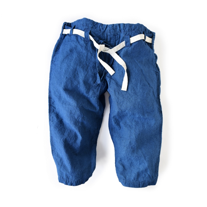 "<div style=""width:60px;display:inline-block;"">model</div> Karate Pants #10<br><div style=""width:60px;display:inline-block;"">color</div> indigo<br><div style=""width:60px;display:inline-block;"">material</div> linen<br><div style=""width:60px;display:inline-block;"">price</div> 19,000JPY(+tax)"